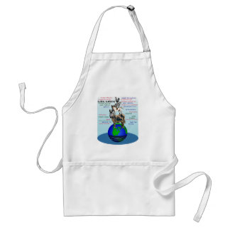 Drowning earth, sea level rise,global warming standard apron