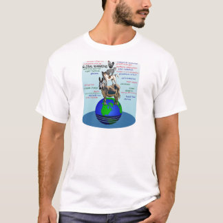 Drowning earth, sea level rise,global warming T-Shirt