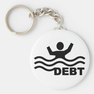 Drowning in Debt Keychain