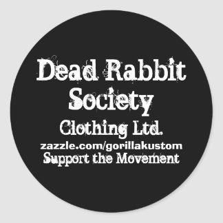 DRS Support the Movement Classic Round Sticker
