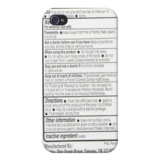 Drug Facts iPhone 4 Covers