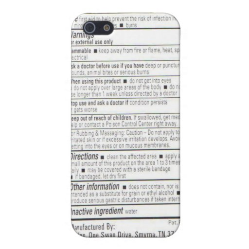 Drug Facts iPhone 5 Case