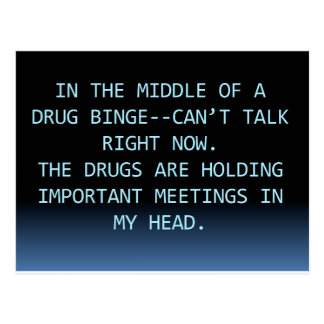 DRUG MEETING POSTCARD