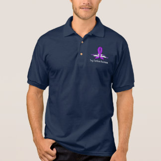 Drug Overdose Awareness with Swans and Ribbon Polo Shirt