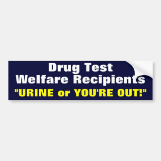 Drug Test Bumper Sticker