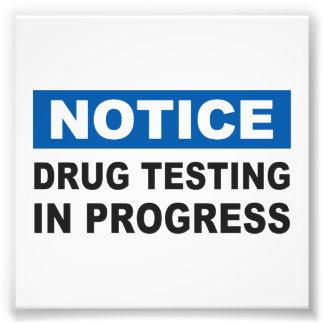 Drug Testing in Progress Photo Print