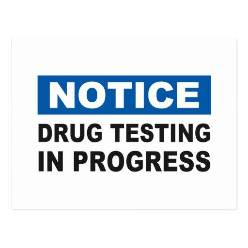 Drug Testing in Progress Post Cards