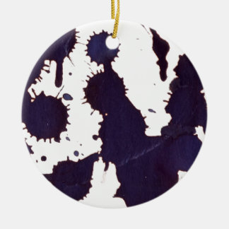 drugging drips, from a height round ceramic ornament