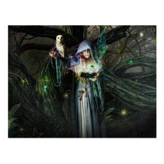 Druid Priestess Postcard