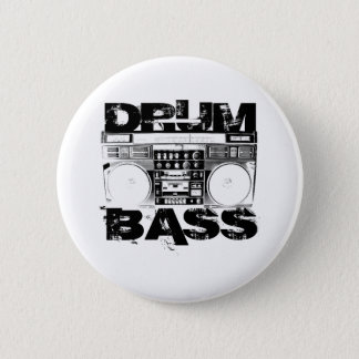 Drum and Bass 2 Inch Round Button
