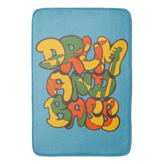 drum and bass reggae color - logo, graffiti, sign bath mat