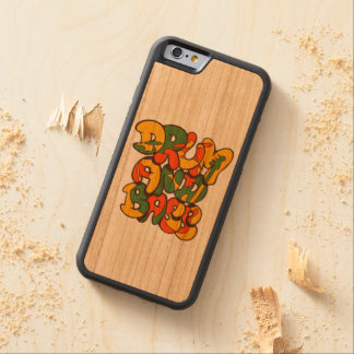drum and bass reggae color - logo, graffiti, sign carved cherry iPhone 6 bumper case