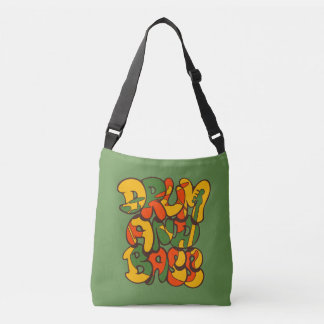 drum and bass reggae color - logo, graffiti, sign crossbody bag