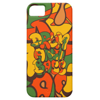 drum and bass reggae color - logo, graffiti, sign iPhone 5 cover