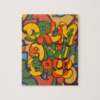 drum and bass reggae color - logo, graffiti, sign jigsaw puzzle