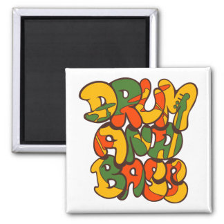drum and bass reggae color - logo, graffiti, sign magnet
