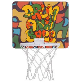drum and bass reggae color - logo, graffiti, sign mini basketball hoop