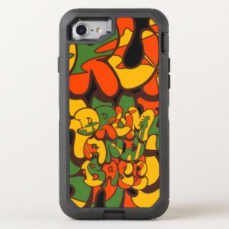 drum and bass reggae color - logo, graffiti, sign OtterBox defender iPhone 8/7 case