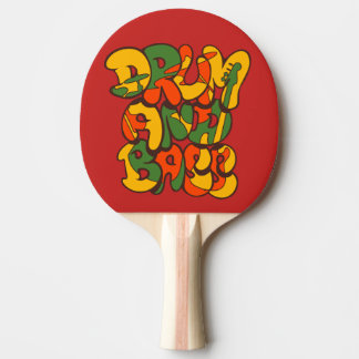 drum and bass reggae color - logo, graffiti, sign ping pong paddle