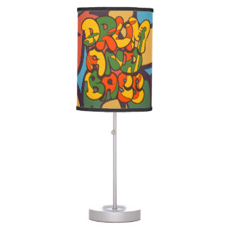 drum and bass reggae color - logo, graffiti, sign table lamp