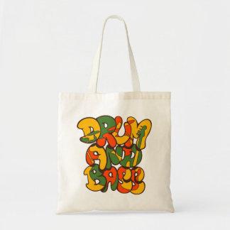 drum and bass reggae color - logo, graffiti, sign tote bag