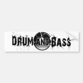Drum and Bass Shattered Record Bumper Sticker