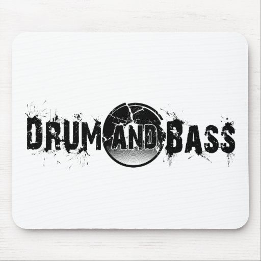 Drum and Bass Shattered Record Mouse Pad