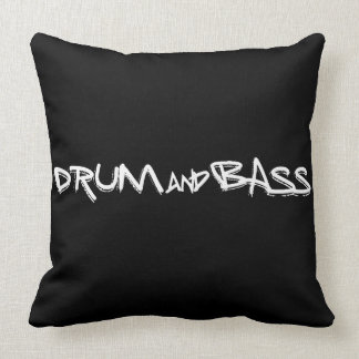 Drum and Bass Throw Pillow