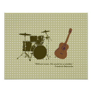 """drum and """"violão"""" for walls poster"""