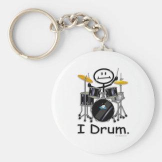Drum Basic Round Button Keychain