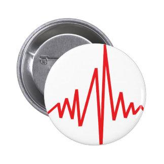 drum beat music pinback button