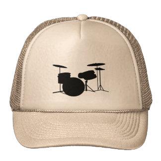 Drum cap trucker hat