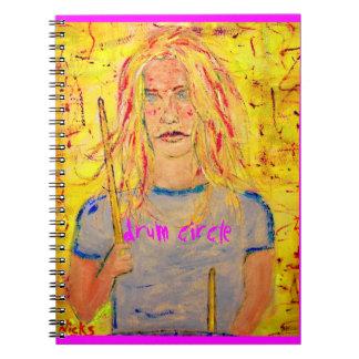 drum circle art notebook