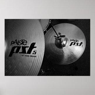 drum cybals poster