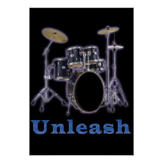 Drum designs poster
