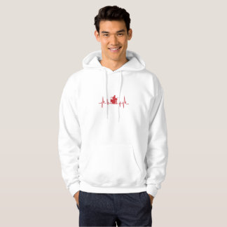 Drum Drummer Heartbeat Funny I Love Drums Hoodie