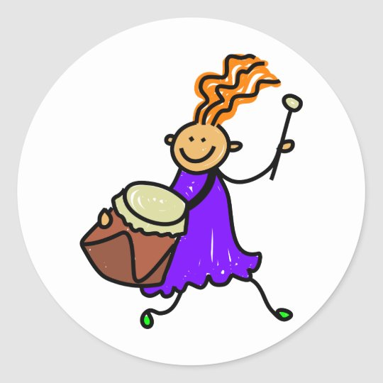 Drum Kid Classic Round Sticker