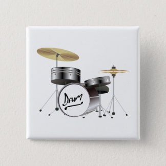 Drum Kit 2 Inch Square Button