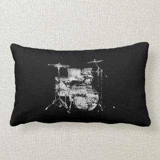drum kit black&white decor lumbar pillow