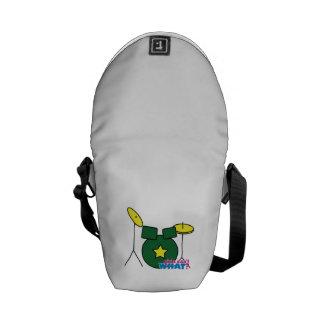 Drum Kit - Green Messenger Bag