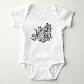 Drum kit rock band grunge baby bodysuit