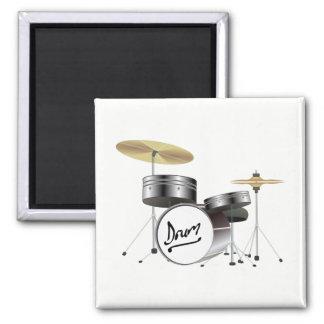Drum Kit Square Magnet