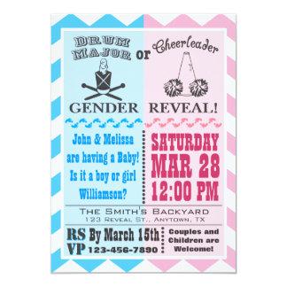 Drum Major or Cheerleader Gender Reveal Invitation
