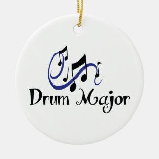 DRUM MAJOR ROUND CERAMIC ORNAMENT