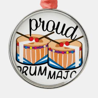 Drum Major Silver-Colored Round Ornament