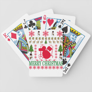 DRUM MERRY CHRISTMAS . BICYCLE PLAYING CARDS