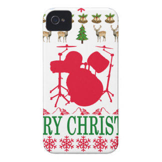 DRUM MERRY CHRISTMAS . Case-Mate iPhone 4 CASE