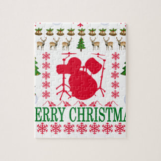 DRUM MERRY CHRISTMAS . JIGSAW PUZZLE