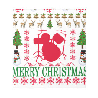 DRUM MERRY CHRISTMAS . NOTEPAD