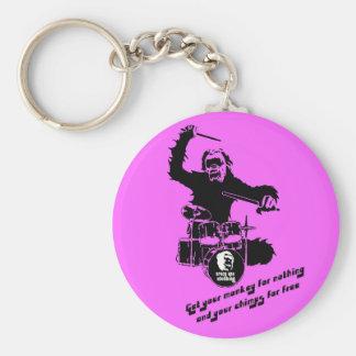 drum monkey crazyape keychain